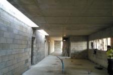 Ecole Mat. St Seine en Bâche : Sous face de dalle béton + maçonnerie
