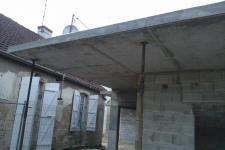 Ecole Mat. St Seine en Bâche : Casquette béton en porte à faux