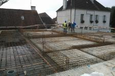 Ecole Mat. St Seine en Bâche : Coulage plancher béton