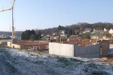 Groupe scolaire Romange : Vue d'ensemble de la construction