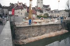 Canal des Tanneurs à Dole – Réfection du mur de soutènement